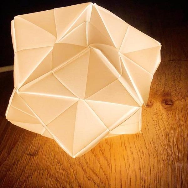 折り紙ランプシェードづくり ワークショップb