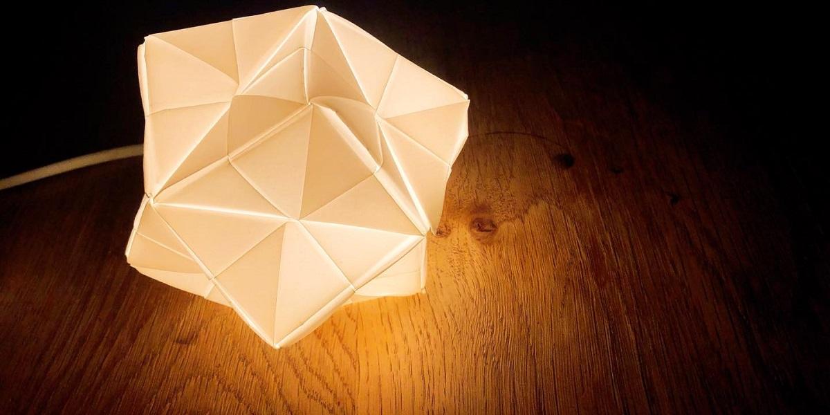 折り紙ランプシェードづくり ワークショップa