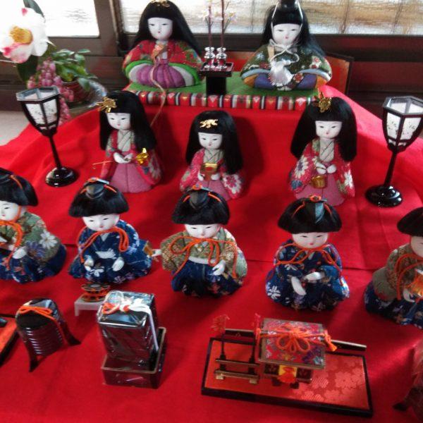 町家カフェ~雛祭り&古布小物(大津袋)の展示販売